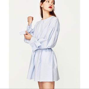 Zara Blogger Fave Sky Blue Voluminous Dress